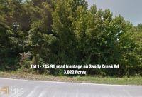Home for sale: 0 Sandy Creek Rd., Fayetteville, GA 30214