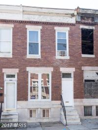 Home for sale: 2442 Mcculloh St., Baltimore, MD 21217